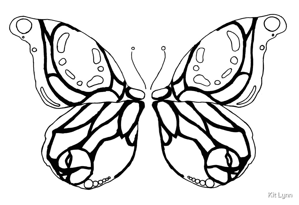 Chalice Butterfly Black and White by UUBadger