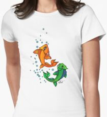 Fishy fish Women's Fitted T-Shirt