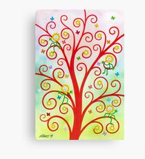 Dream Tree - Brush And Gouache Canvas Print