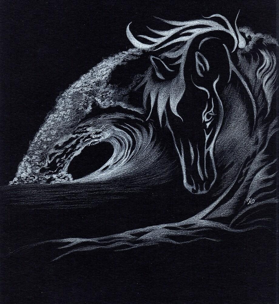 white horse by Rebecca O'Toole