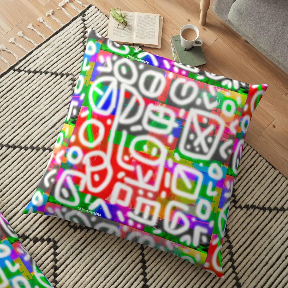 Impulsiveness (tribal digital art) Floor Pillow