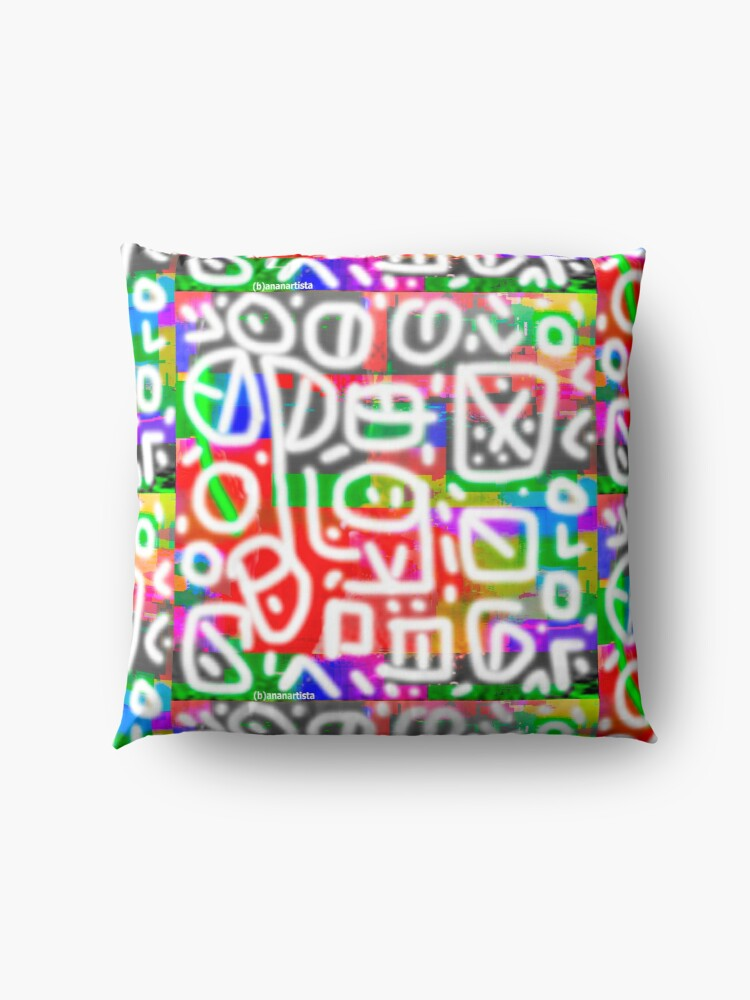 Alternate view of Impulsiveness (tribal digital art) Floor Pillow