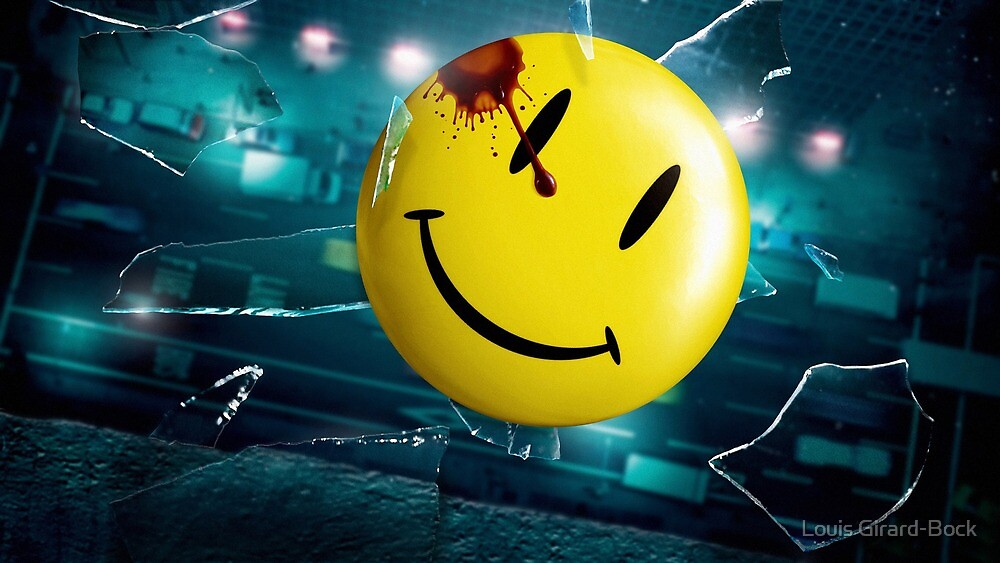 Watchmen's Smiley face by Puff Puff Pass