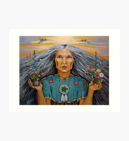 East - Spiritual Visionary oil painting Art Print
