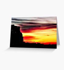 Setting sun over Milwaukee © Greeting Card
