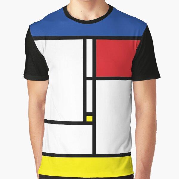 Mondrian Minimalist De Stijl Modern Art © fatfatin Graphic T-Shirt