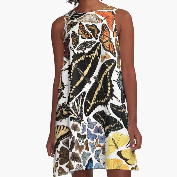 Butterflies of North America A-Line Dress