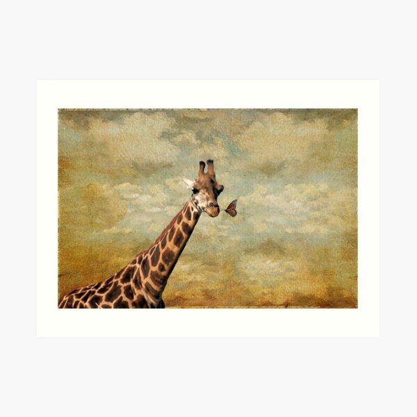 Look What I Found Way Up Here! Art Print