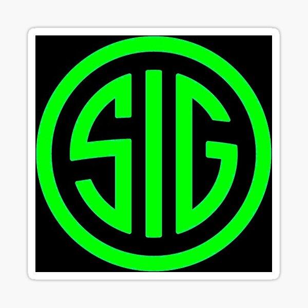 Sig Sauer Firearms Logo Green Sticker