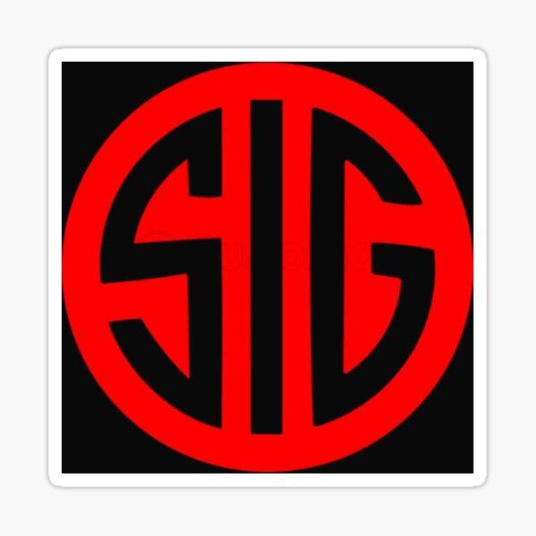 Sig Sauer Firearms Logo Red Sticker