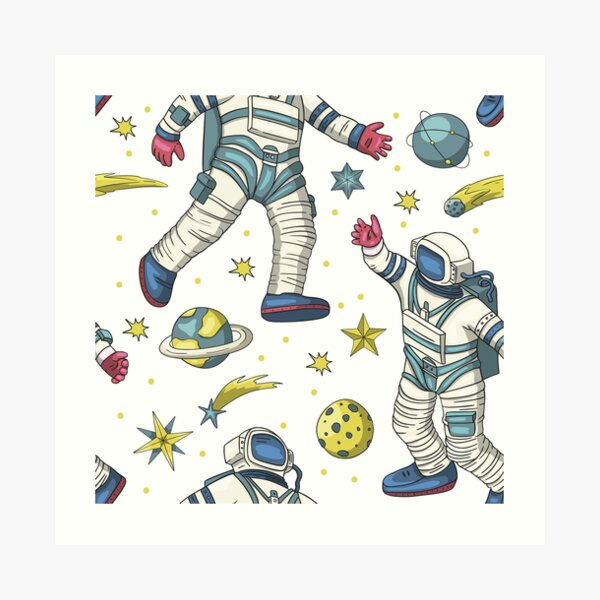 Anything Goes In Space Pattern 2 Art Print