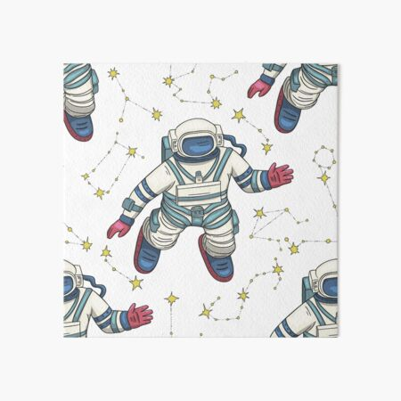 Wish I Were Weightless Like An Astronaut Pattern Art Board Print