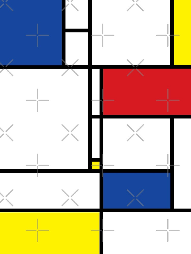 Mondrian Minimalist De Stijl Modern Art I.I © fatfatin by fatfatin