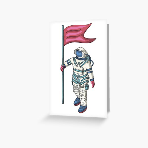 Flag Of Honor In Space Greeting Card