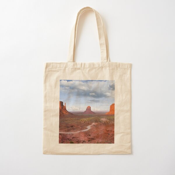 The Mittens and Merrick Butte at Sunset Cotton Tote Bag