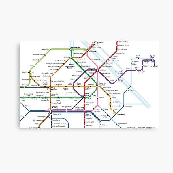 Vienna Austria Ubahn Map Canvas Print