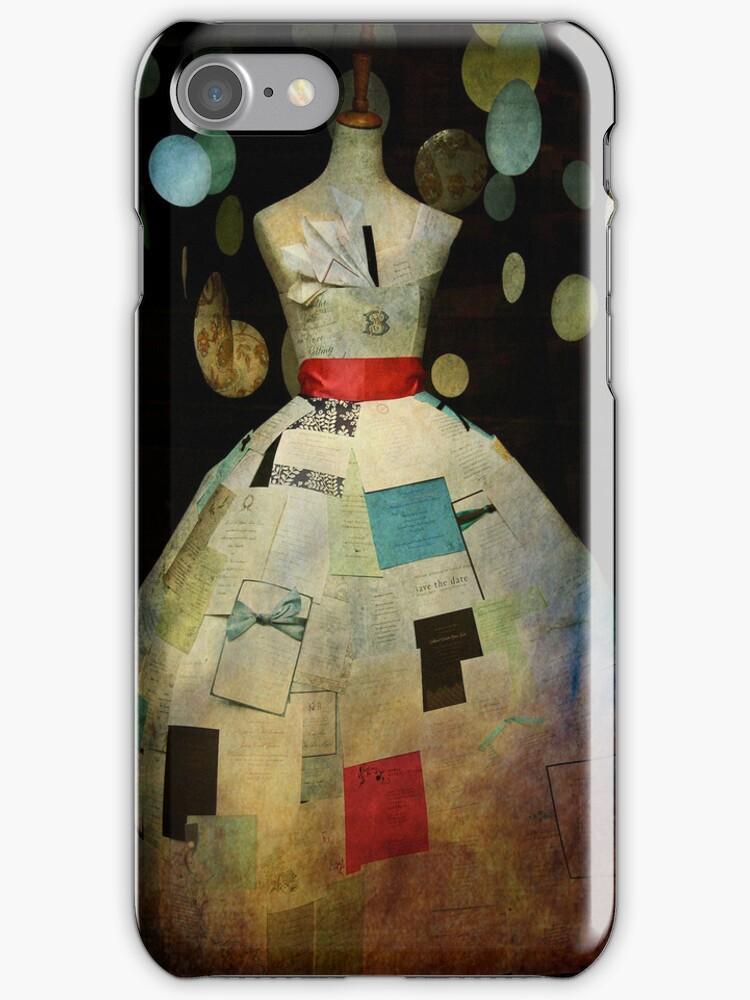 Forget Me Not Paper Dress Case by Sonia de Macedo-Stewart