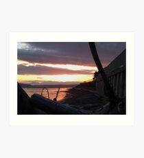 Alki Beach Sunset  Art Print