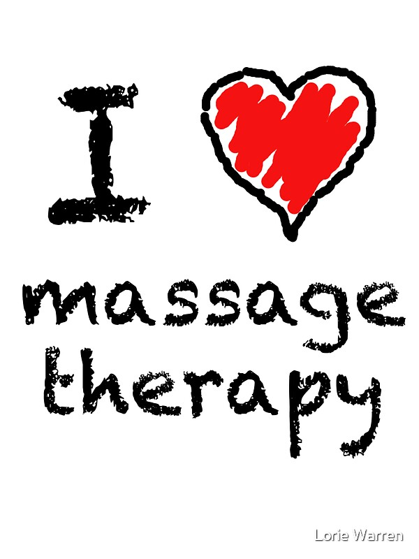Quot I Love Massage Therapy Quot Stickers By Lorie Warren Redbubble