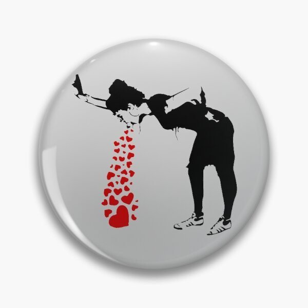 Lovesick - Banksy, Streetart Street Art, Grafitti, Artwork, Design For Men, Women, Kids Pin
