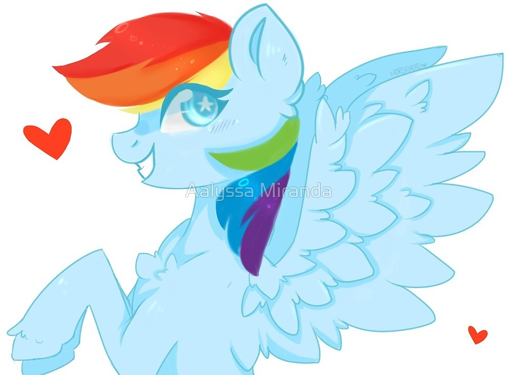 """Abstract"" Rainbow Dash Merchandise by Aalyssa Miranda"
