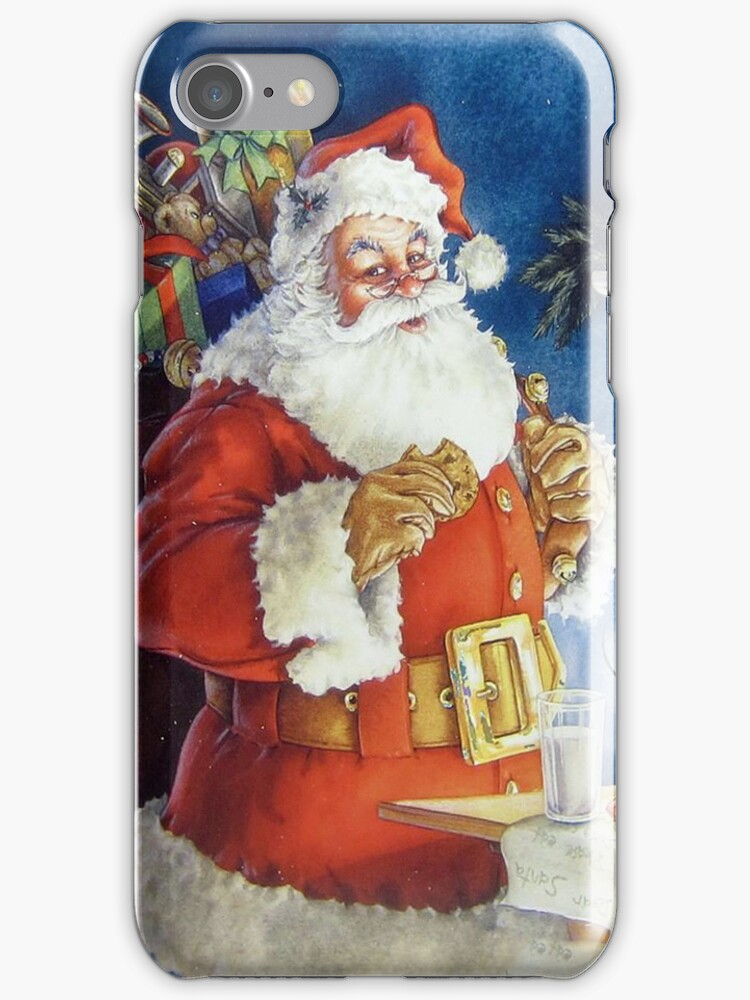 Santa iPhone 4/4S Skin by purplesensation