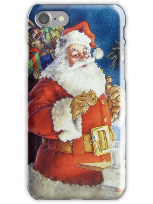 Santa iPhone 4/4S Skin by purplesensation