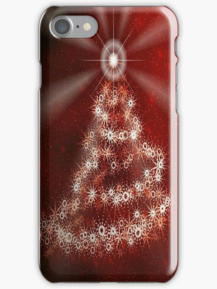Christmas Tree  iPhone 4/4S Case by purplesensation