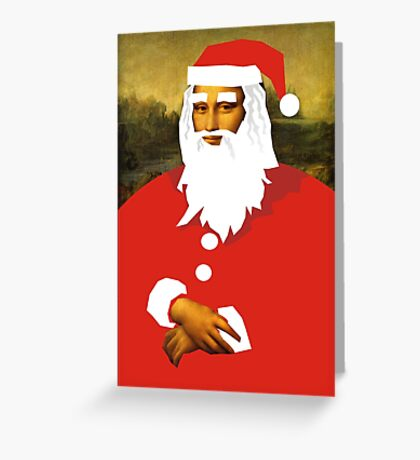 smiley santa Greeting Card
