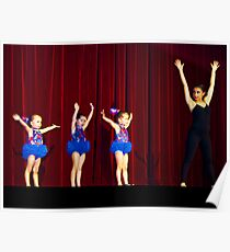 Dancing on stage at nearly 4 years old. Poster