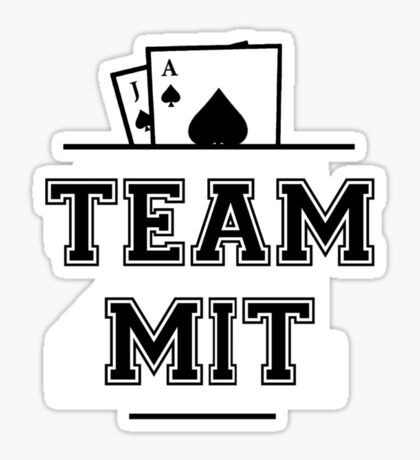 Team MIT - Blackjack 21 (black) Sticker
