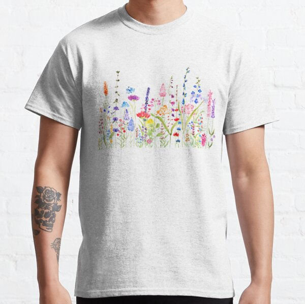 colorful wild flower field  Classic T-Shirt