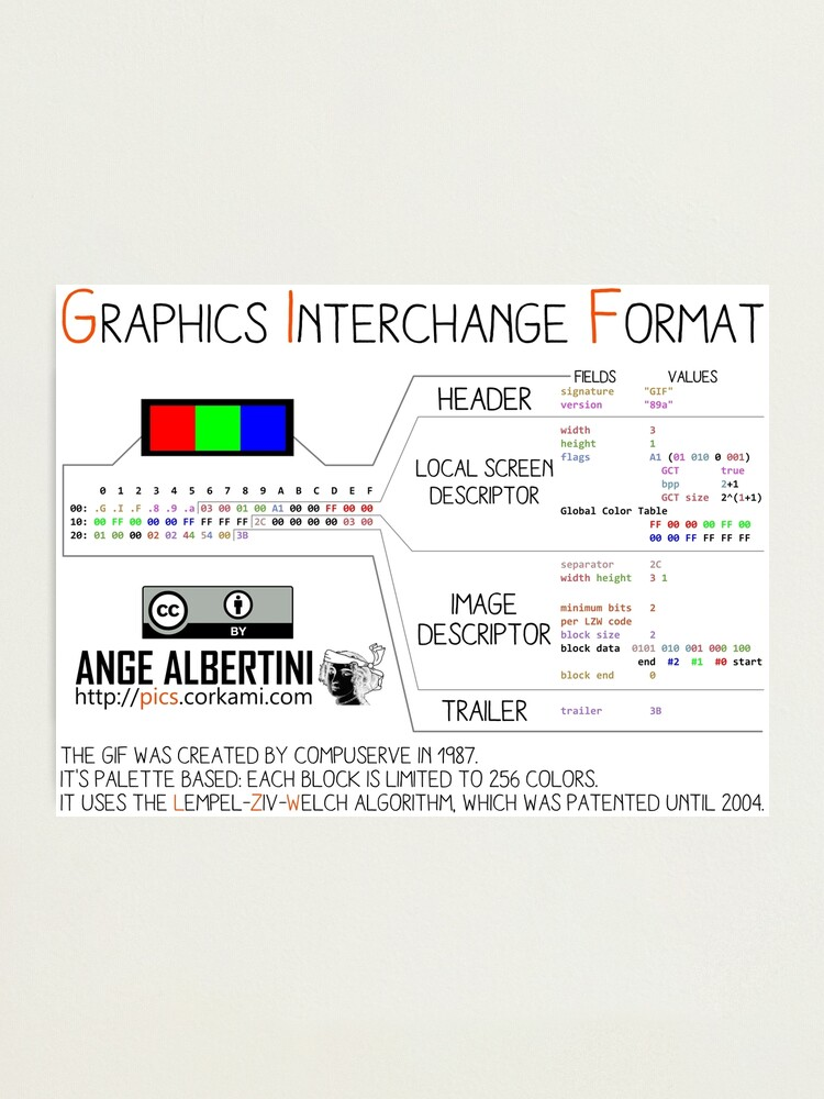 Alternate view of mini .GIF: Graphics Interchange format Photographic Print