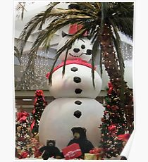 Frosty At The Mall Poster