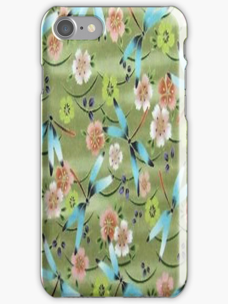 Flight of the Dragonflies iPhone Case by purplesensation