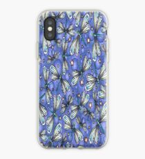 Glitter Dragonflies Blue iPhone Case iPhone Case