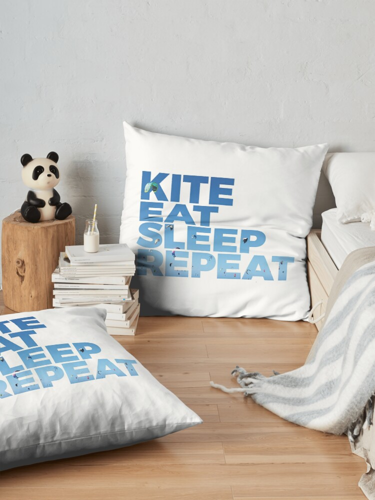 Alternative Ansicht von Kite, Eat, Sleep, Repeat Bodenkissen