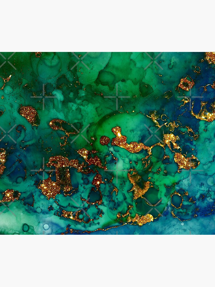 Amazing Blue and Green Malachite Marble by MysticMarble