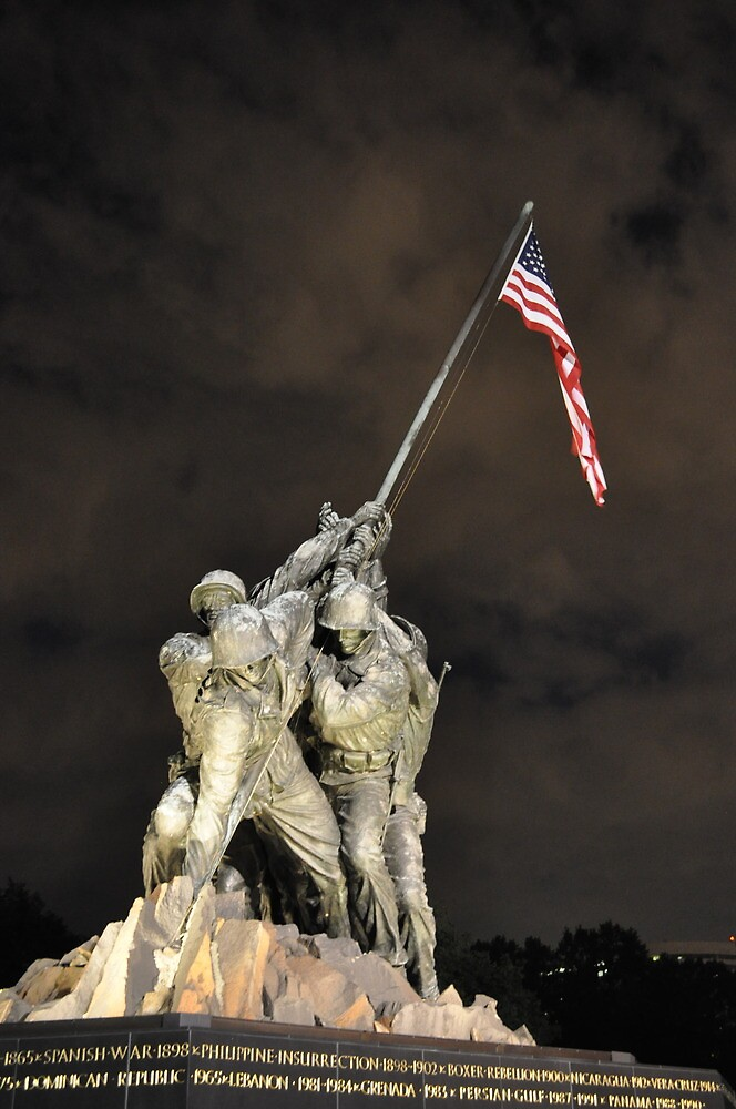 Iwo Jima Memorial - U.S. Marine Corps War Memorial by LESpiker