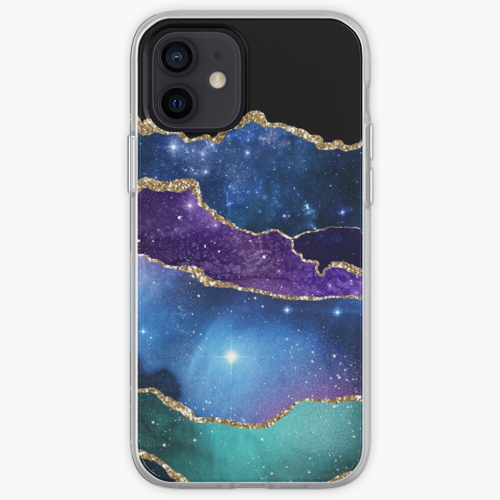 Galaxy Glamour Glitter Marble iPhone Case & Cover