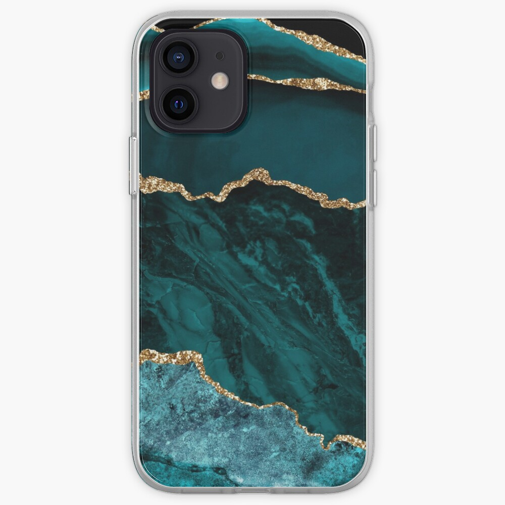 Amazing Blue and Teal Malachite Marble iPhone Case & Cover