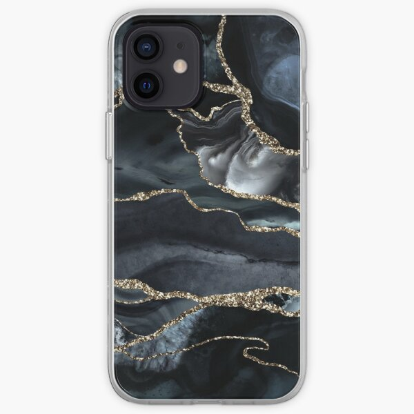 Night Masculine Marble Landscapes iPhone Soft Case