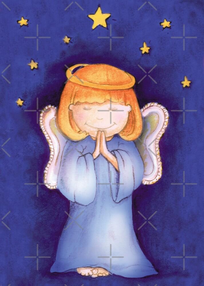 Christmas praying angel by Sarah Trett
