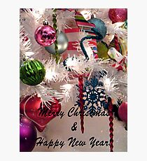 Ornaments Christmas Card Photographic Print