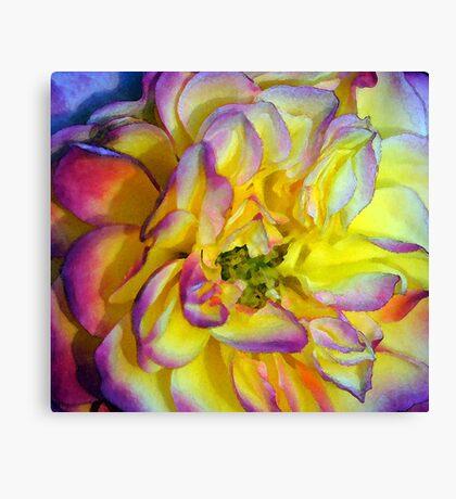 Autumn Rose - Watercolor Canvas Print