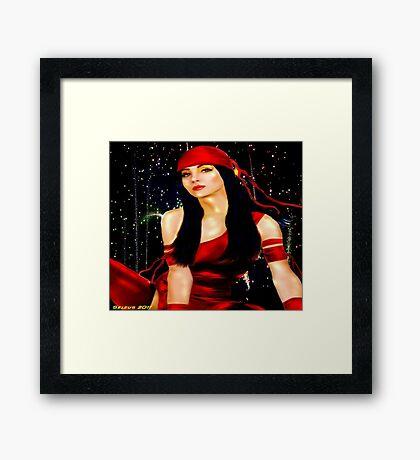 Red Ninja Framed Print