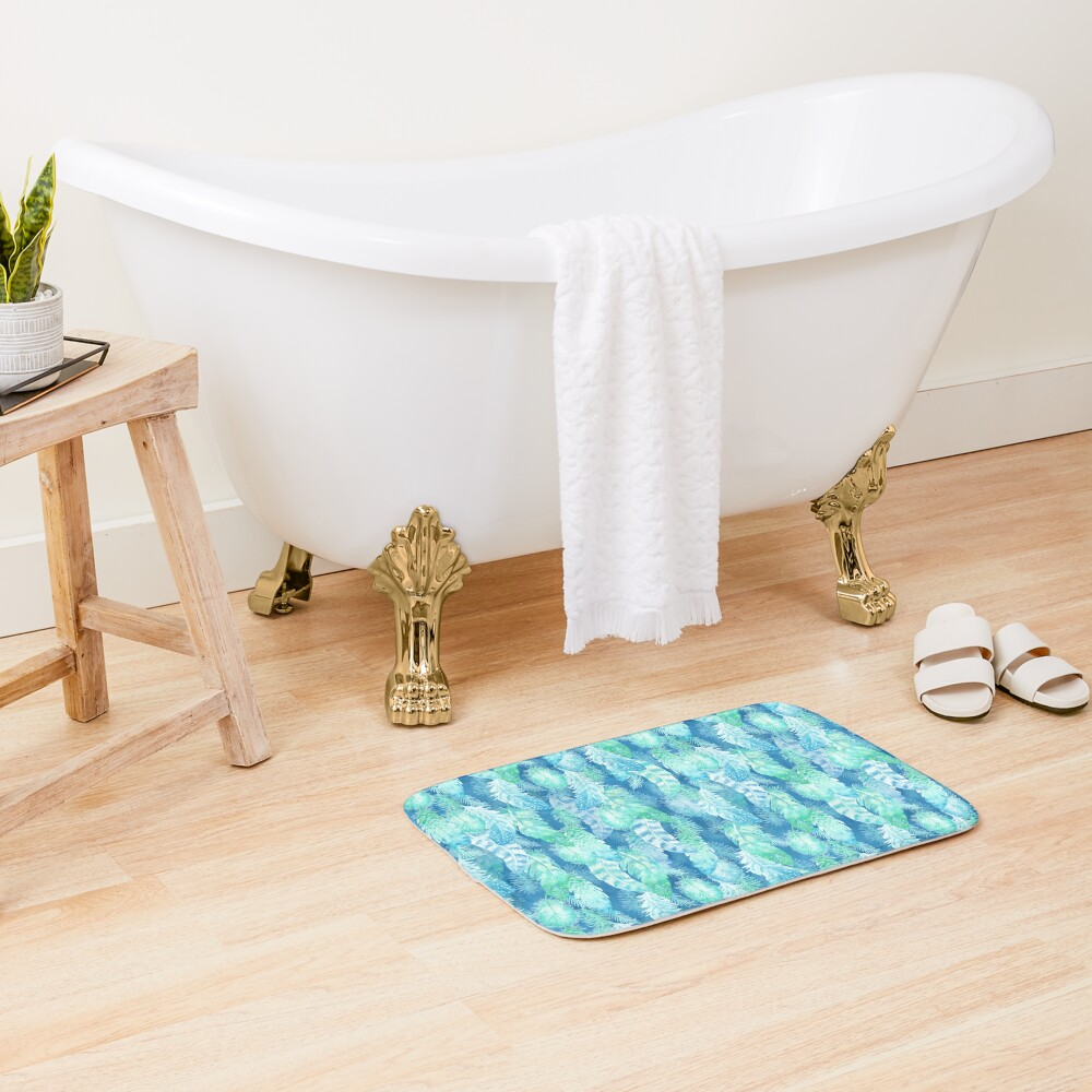 Feather Cover Bath Mat
