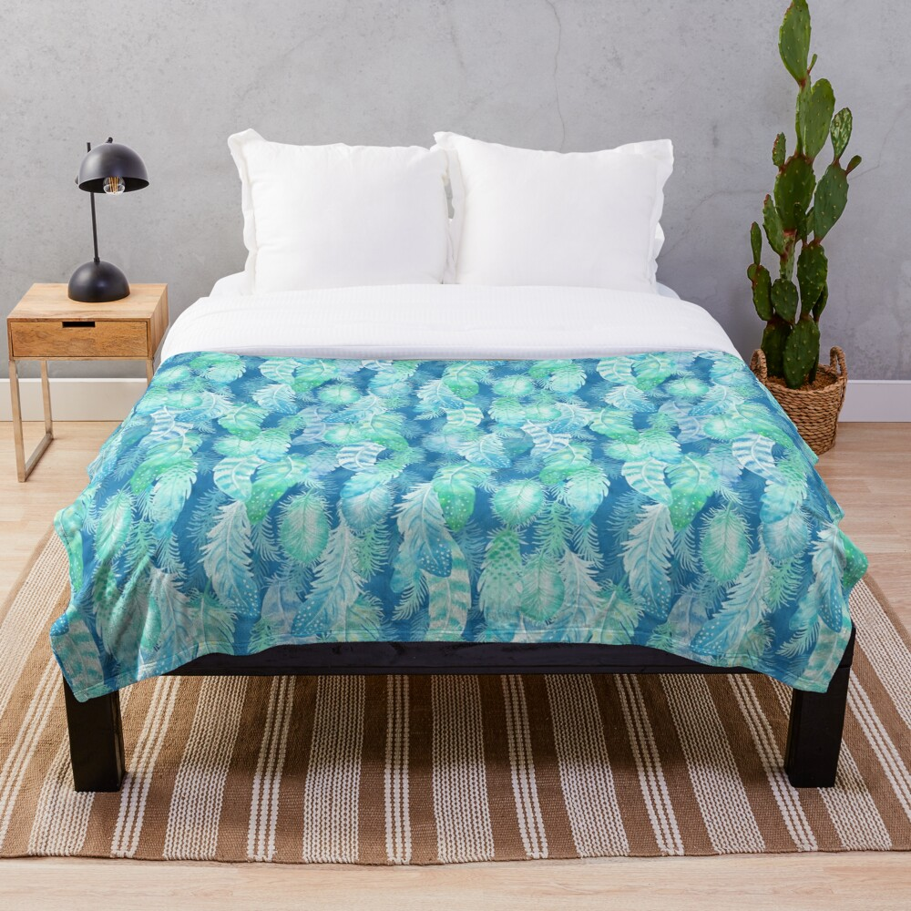 Feather Cover Throw Blanket