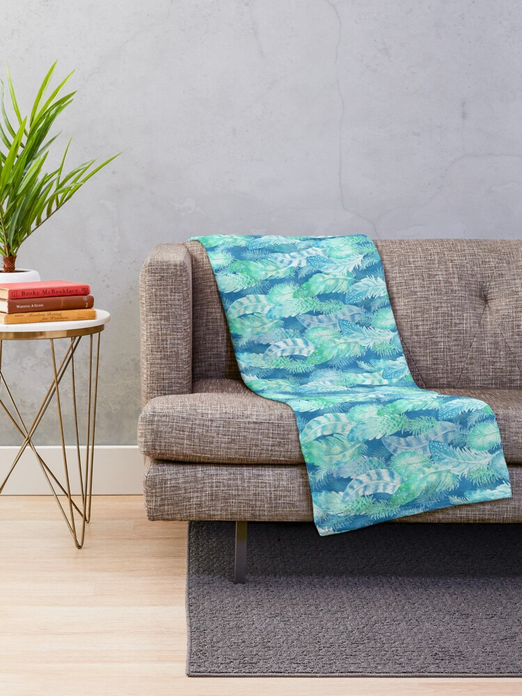 Alternate view of Feather Cover Throw Blanket