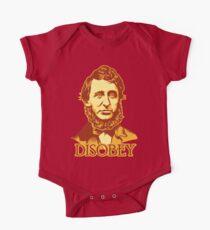 Henry David Thoreau Disobey One Piece - Short Sleeve